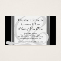 Elegant Professional Monogram R Black and Gray Business Card