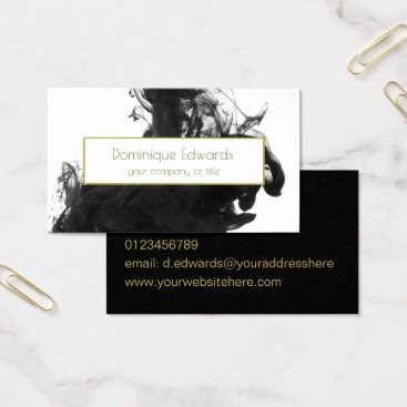 Elegant Professional Personal  Black Ink Gold Business Card