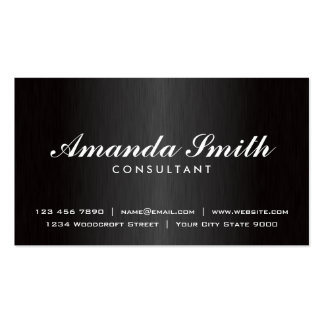 Elegant Professional Plain Black Fashion Designer Double-Sided Standard Business Cards (Pack Of 100)
