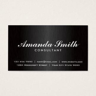 Elegant Professional Plain Black Modern Metal Business Card