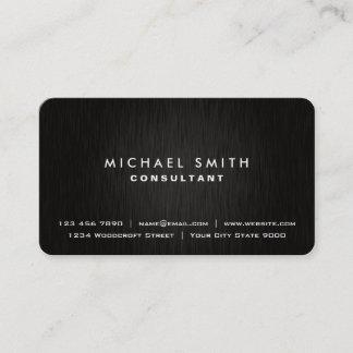 Custom business cards zazzle elegant professional plain black modern metal look business card reheart Choice Image