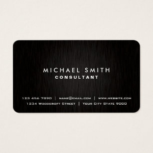 Elegant business cards templates zazzle elegant professional plain black modern metal look business card fbccfo Image collections