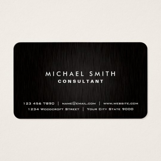 Real estate business cards 4200 real estate business card templates elegant professional plain black modern metal look business card reheart Choice Image