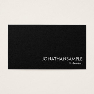 Elegant Professional Plain Black White Grey Matte Business Card