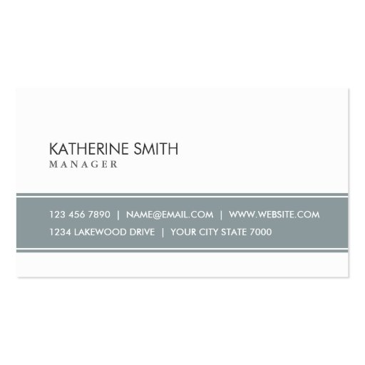 Elegant Professional Plain Simple Gray and White Business Card Template