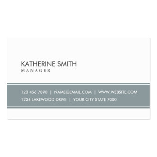 Elegant Professional Plain Simple Gray and White Double-Sided Standard Business Cards (Pack Of 100)