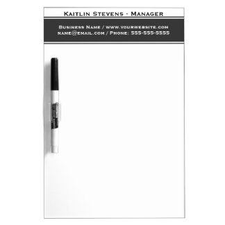 Elegant Professional Plain Simple Gray and White Dry-Erase Board