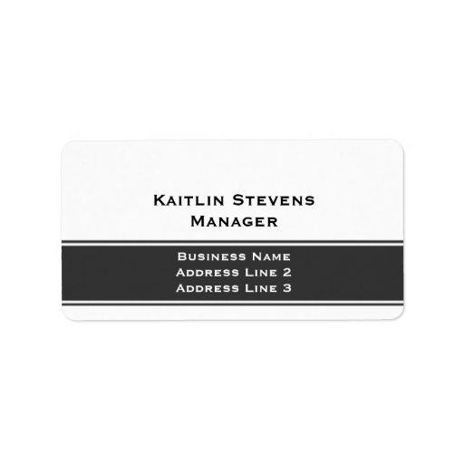 Elegant Professional Plain Simple Gray and White Personalized Address Label