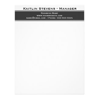 Elegant Professional Plain Simple Gray and White Letterhead Design