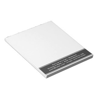 Elegant Professional Plain Simple Gray and White Notepad