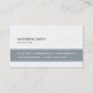 Simple business cards zazzle elegant professional plain simple gray and white business card colourmoves
