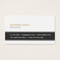 Elegant Professional Plain Simple White Fashion Business Card at Zazzle