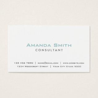 Elegant Professional Plain White Makeup Artist Business Card at Zazzle