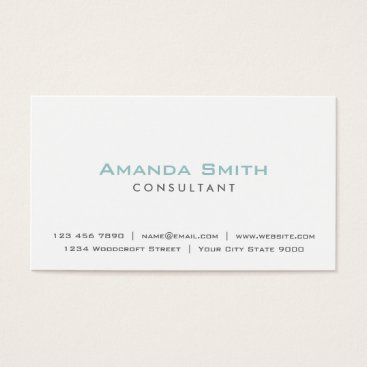 Lamborati Elegant Professional Plain White Makeup Artist Business Card