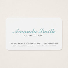 Elegant Professional Plain White Makeup Artist Business Card at Zazzle