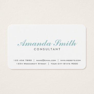 Elegant Professional Plain White Makeup Artist Business Card
