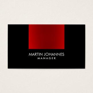 Elegant Professional Red Black Plain Business Card