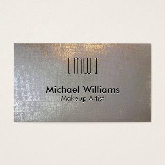Elegant Professional Skin Crocodile Reptile Silver Business Card