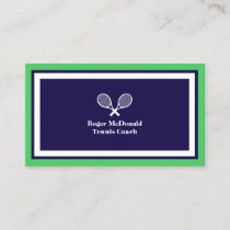 Elegant professional tennis logo style business card