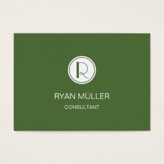 Elegant Professional Treetop and Monogram Business Card
