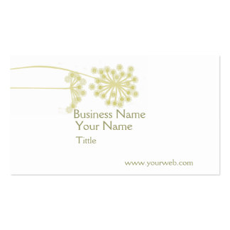 Elegant Professional Wild Flower Art Double-Sided Standard Business Cards (Pack Of 100)
