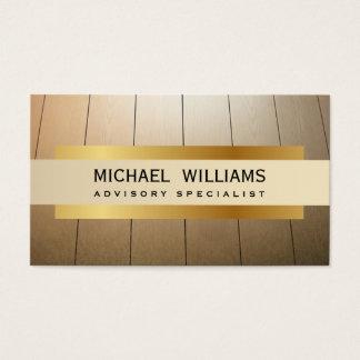 ELEGANT PROFESSIONAL WOOD TABLES PARQUET LUXURY BUSINESS CARD