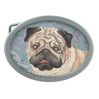 Elegant Pug Belt Buckle