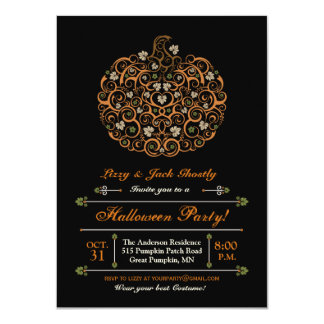 Elegant Pumpkin Halloween Party Invitation II