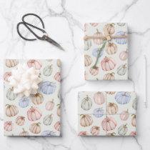 Elegant Pumpkins Gender Neutral Baby Shower Wrapping Paper Sheets