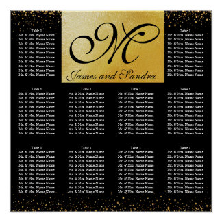 Elegant Pure Gold Collection Seating Chart