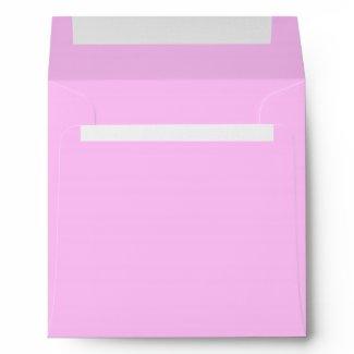 Elegant Pure Pink Linen Envelopes
