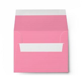 Elegant Pure Pink Linen RSVP Envelopes