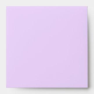 Elegant Pure Purple Linen Envelopes