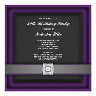 Elegant Purple 30th Birthday Party Invitation