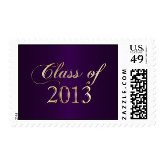 Elegant Purple and Gold Class of 2013 Stamp