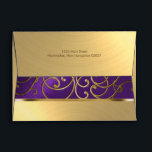 """Elegant Purple and Gold Filigree Envelope<br><div class=""""desc"""">Bat Mitzvah Invitation Sets by Tailored Type. I am more than happy to help you with your Zazzle experience. Do you like the design but need a different color? Need it on a different size? Don&#39;t see the matching items like stamps or RSVP cards? Need Hebrew added to the invitation?...</div>"""