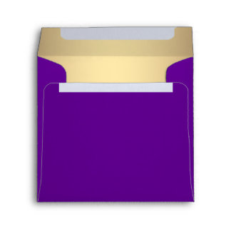 Elegant Purple and Gold Linen Envelope