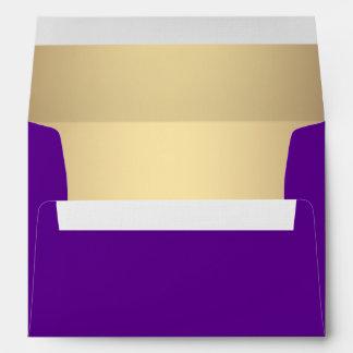 Elegant Purple and Gold Linen Envelopes