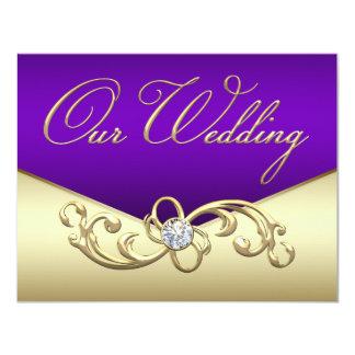 purple and gold wedding invitations amp announcements zazzle