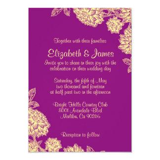 elegant purple and gold wedding invitations - Purple And Gold Wedding Invitations