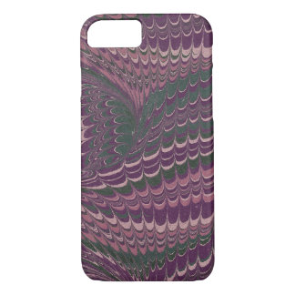 Elegant Purple and Green Marbled Paper Design iPhone 7 Case