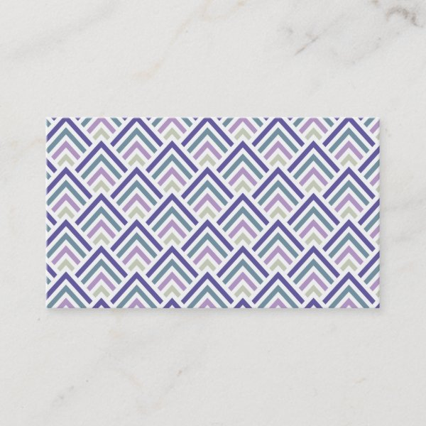 Hot pink black art deco chevron pattern business card antique images elegant purple and teal geometric zigzag chevron business card colourmoves