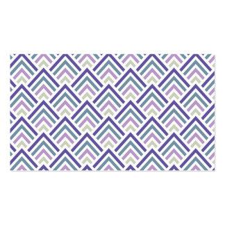 Elegant Purple and Teal Geometric ZigZag Chevron Business Card