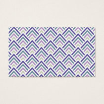 Elegant Purple and Teal Geometric ZigZag Chevron Business Card
