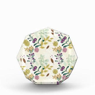 Elegant Purple and Turquoise Floral Leaf Design Award