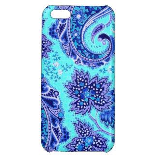 Elegant Purple and Turquoise Paisley Flowers iPhone 5C Cases