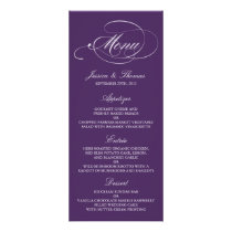Elegant Purple And White Wedding Menu Templates