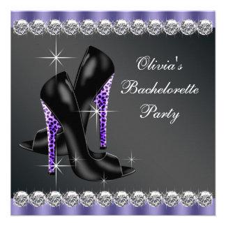 Elegant Purple Bachelorette Party Personalized Invites