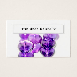 Elegant Purple Beads Business Cards
