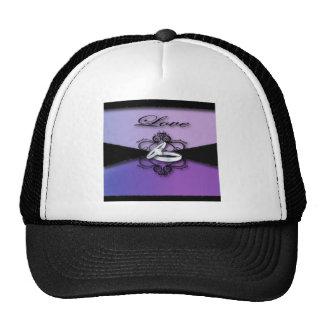 Elegant Purple Black Wedding Cards &Favor Trucker Hat